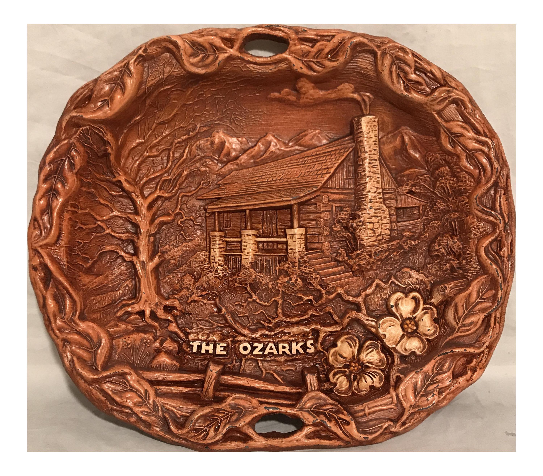 The Ozarks Decorative Ceramic Wall Plate  sc 1 st  Chairish & Vintage u0026 Used Burnt Orange Decorative Plates | Chairish