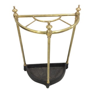 English Brass Umbrella Stand For Sale