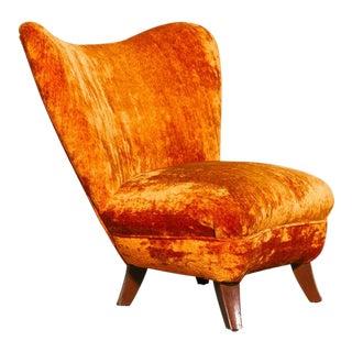 Ernst Schwadron Slipper Chair For Sale