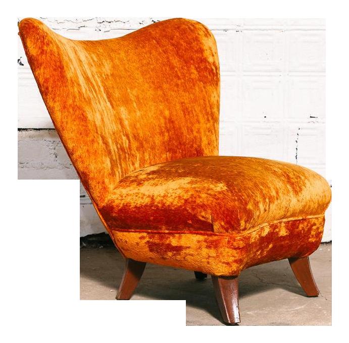 Ernst Schwadron Slipper Chair