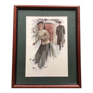 Harrison Fisher Framed Print For Sale