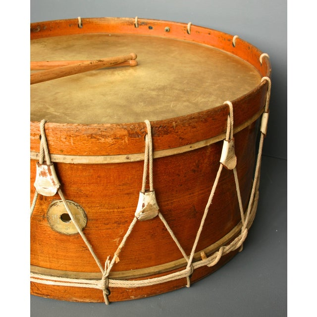 Antique Wooden Drum From Belgium - Image 3 of 5