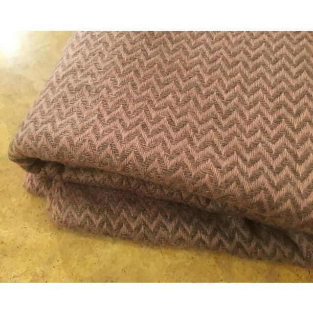 Large Pink Cashmere Blanket - Image 9 of 11