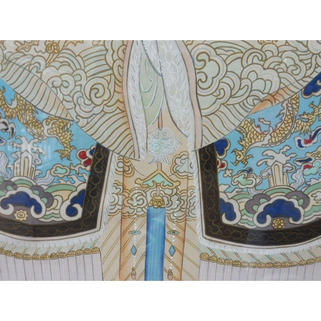 Hand Painted Chinese Ancestor Portrait Paintings - a Pair For Sale - Image 10 of 13