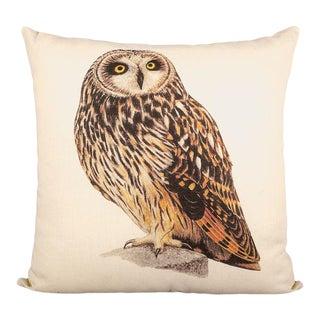 Owl Linen Pillow For Sale