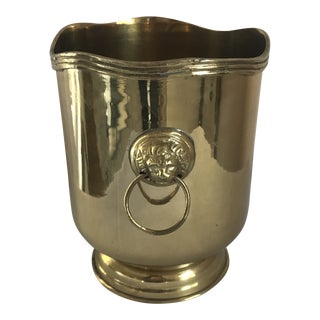 Brass Lion-Head Wine Chiller For Sale
