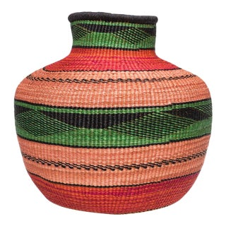Handwoven Ghanaian Basket For Sale