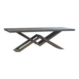 Grey Farmhouse Dining Table For Sale
