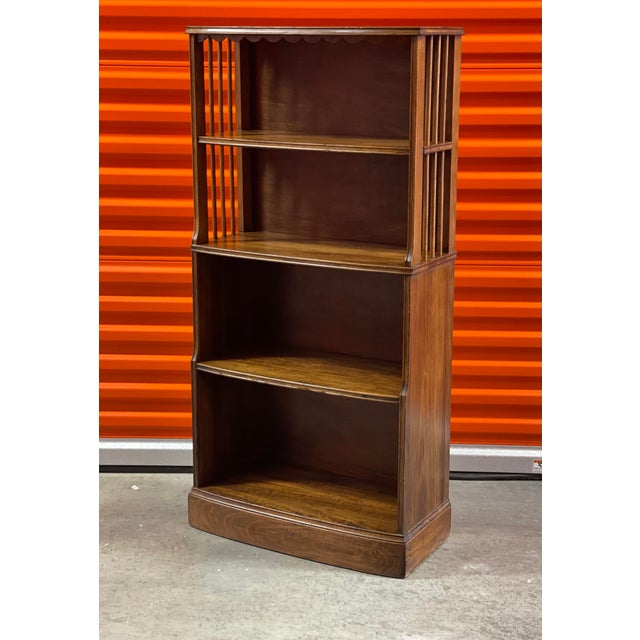 Early American Art Deco Retro Style Bookcase For Sale - Image 4 of 4