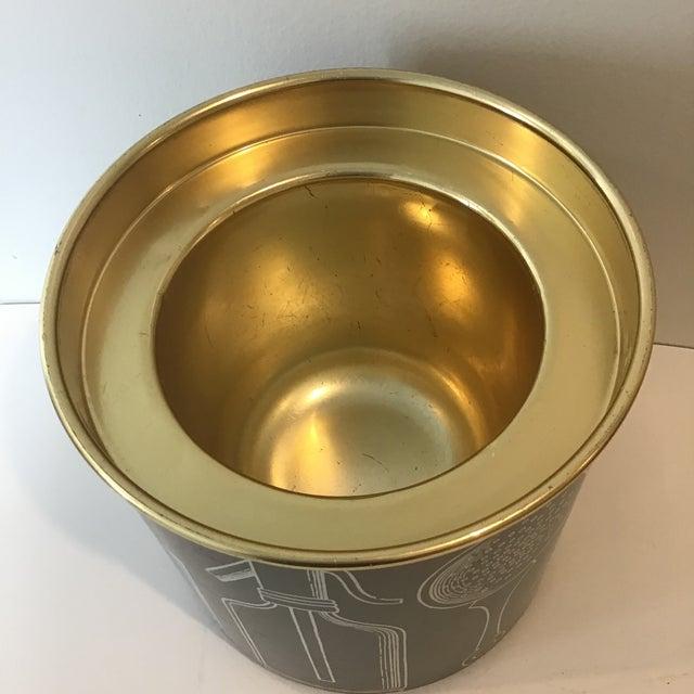 Black Fornasetti Vintage Mid-Century Ice Bucket For Sale - Image 8 of 11