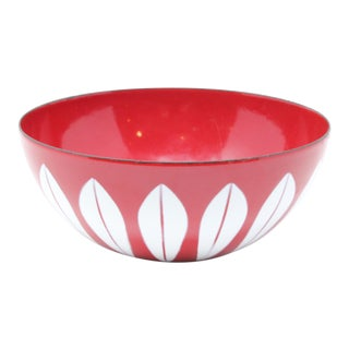 1960s Scandinavian Modern Grete Prytz Kittelsen Cathrineholm Enamel Lotus Bowl For Sale