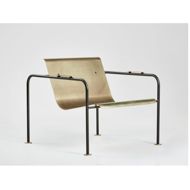 Colin Tury Brass and Steel Fairfax Lounge Chair by Colin Tury For Sale - Image 4 of 5