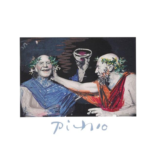 """Pablo Picasso """"Photo Rehasse De Picasso Et Manuel Pallares"""" Lithograph For Sale"""
