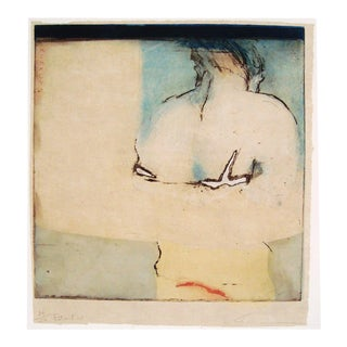 Figural Hand Colored Etching Ii, S. Canini, France, 1996 For Sale