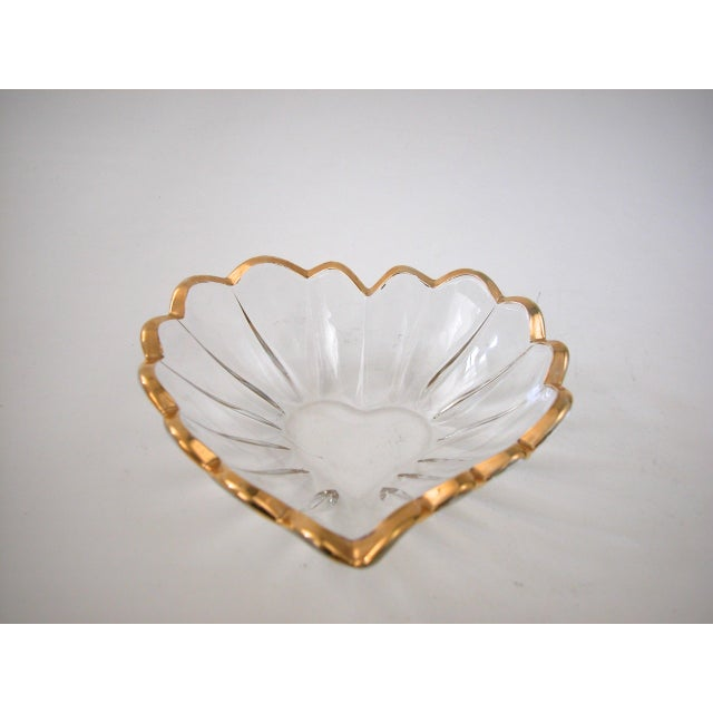 Glass and Gold Heart Dish - Image 4 of 9