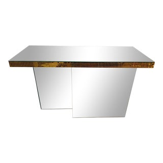 Art Deco Mirrored Console, 1930s For Sale