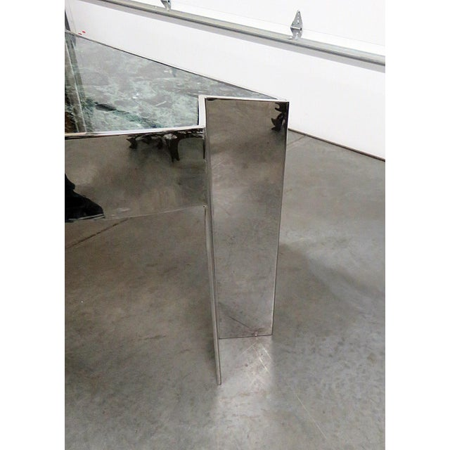 Silver Marble Top Chrome Desk Attr. Pace Collection For Sale - Image 8 of 11