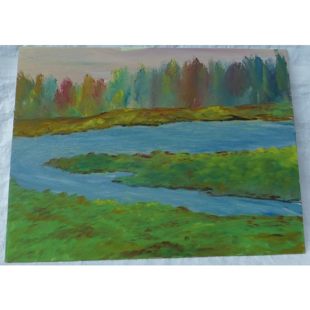 River's Edge Oil Painting by H.L. Musgrave - Image 2 of 6