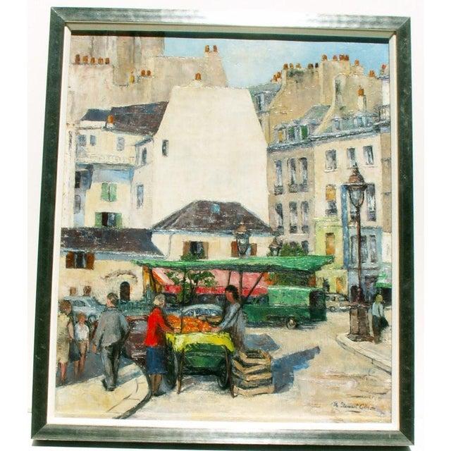 Paris Street Market, Oil Painting - Image 2 of 4