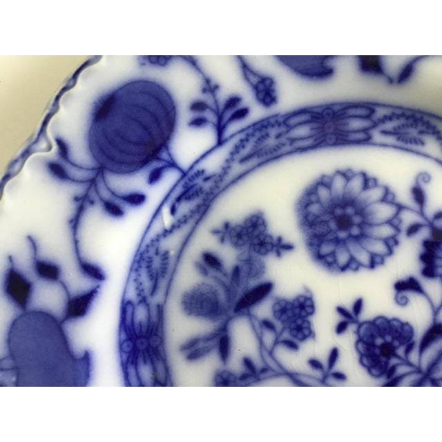 """Jonson Bros England """"Holland"""" Flow Blue Plates - a Pair For Sale - Image 10 of 13"""