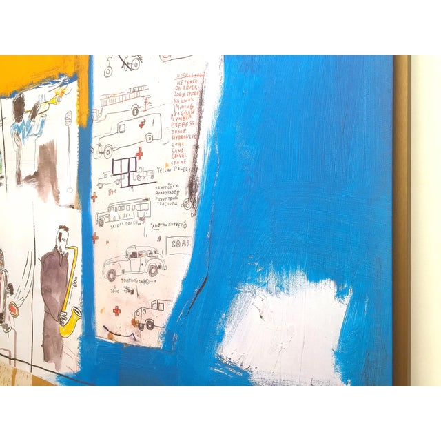 """Jean Michel Basquiat Rare Vintage 1997 Framed Lithograph Fine Art Print """" Worthy Constituents """" 1986 For Sale - Image 11 of 13"""