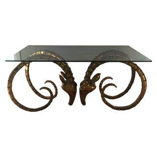 Ibex Rams Head Table, Mid-Century Design For Sale