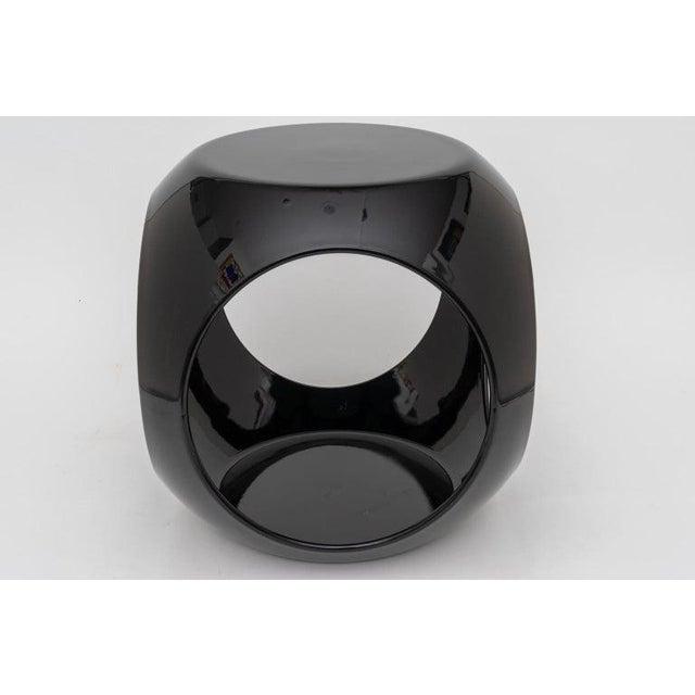 Op Art Op Art Resin Black Drinks Tables - a Pair For Sale - Image 3 of 13
