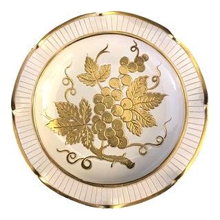 Antique Blanc De Chine Gold Gilt Decorative Plate