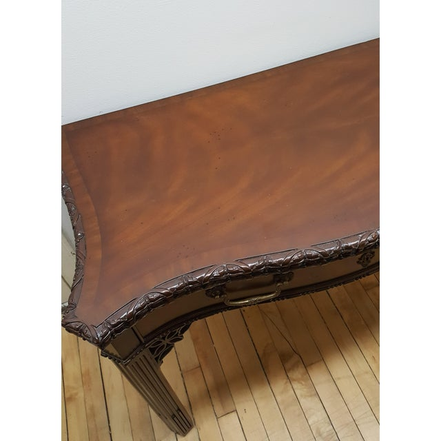 Mahogany Maitland Smith Mahogany Flip Top Game Table For Sale - Image 7 of 9