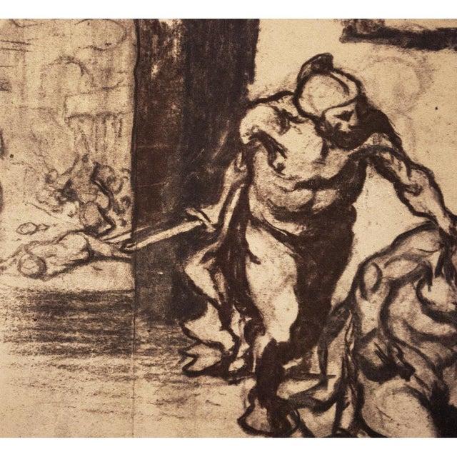 Honoré Daumier 1959 Archimedes by Honoré Daumier, Vintage Hungarian Lithograph For Sale - Image 4 of 8
