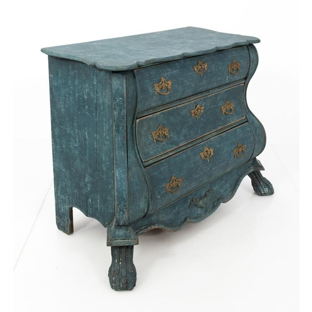 Early 19th Century Dutch Blue Bombay Commode For Sale - Image 5 of 11