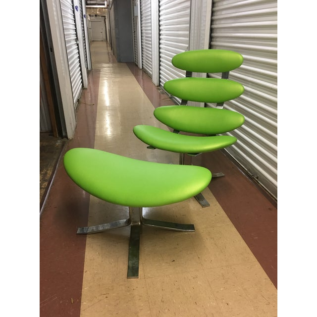 Very nice superb quality lounge chair designed by Poul M. Volther and manufactured by Erik Jorgensen, Denmark 1958. The...
