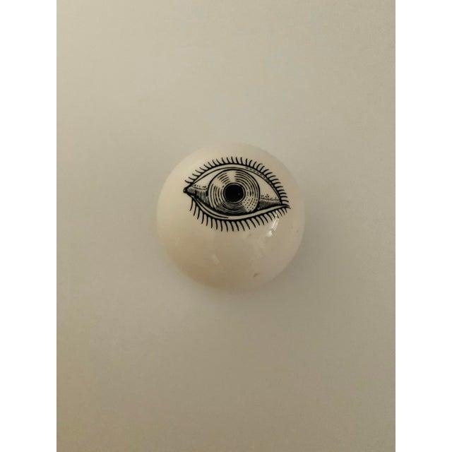 Surrealist Piero Fornasetti Ceramic Eyeball Paperweight, Italy, 1960s Rare Surrealist Piero Fornasetti ceramic eyeball...