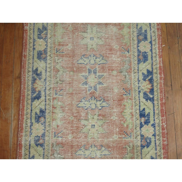 Distressed Turkish Oushak Runner Rug - 2'5'' x 10'9'' - Image 7 of 8