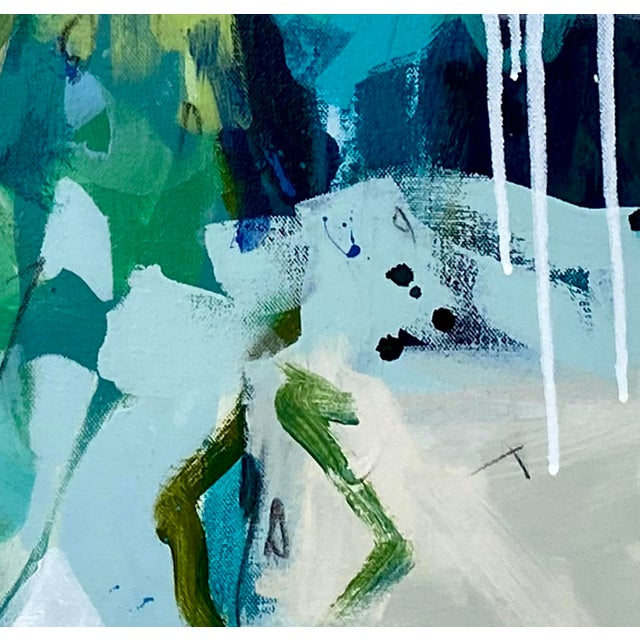 """Paint """"She's Subtle, Like a Jet Plane"""" - Original Mixed Media Abstract Painting by Gina Cochran For Sale - Image 7 of 7"""