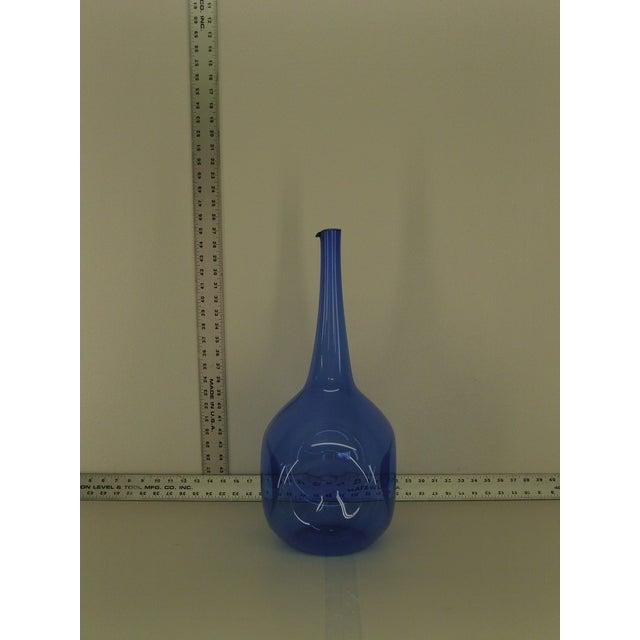 Mid Century Zeller Glass Floor Vase For Sale - Image 4 of 4