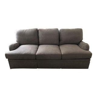 Contemporary Gray Upholstered Sofa