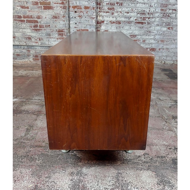 Jens Risom -Danish Mid Century Modern Walnut Credenza-C1950s For Sale - Image 4 of 10