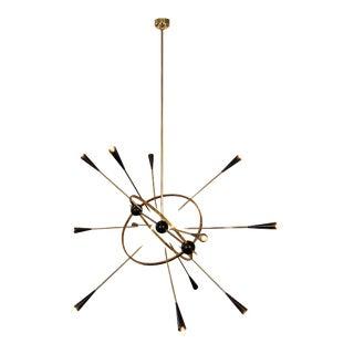 Italian Sputnik Chandelier by Vincente Paiola For Sale