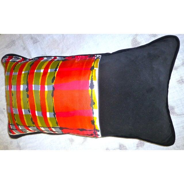 Custom Mid-Century Vera Neumann Scarf Pillow - Image 4 of 6