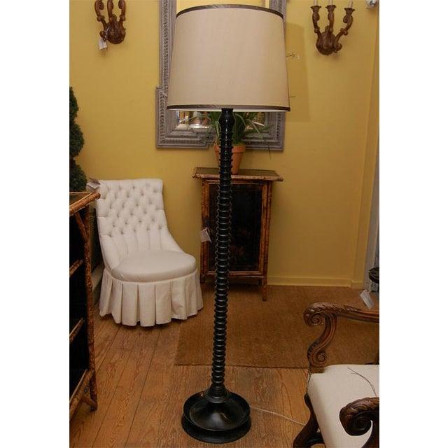Ghee Black Twist Floor Lamp with Shade - Image 5 of 9
