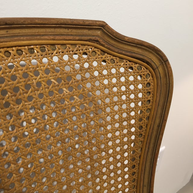 Queen Anne Caned Back Chairs - Set of 4 For Sale - Image 9 of 9