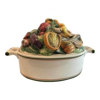 Vintage Italian Neiman Marcus Handpainted Vegetable Casserole For Sale