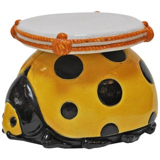 Italian Ladybug Ceramic Stool For Sale