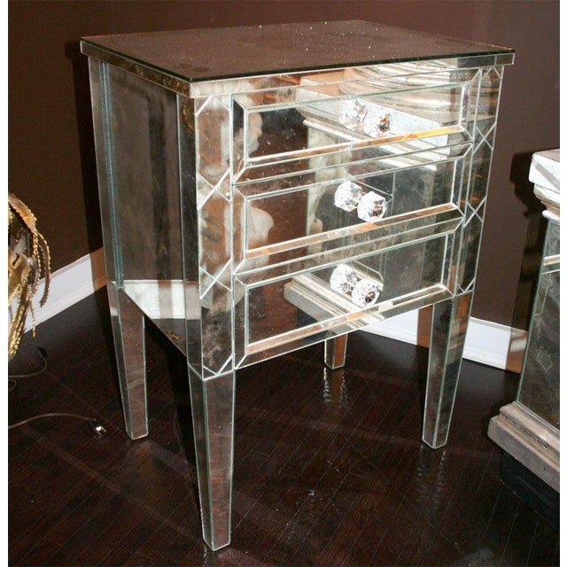 Silver Single Custom X-Front Design Commode For Sale - Image 8 of 8