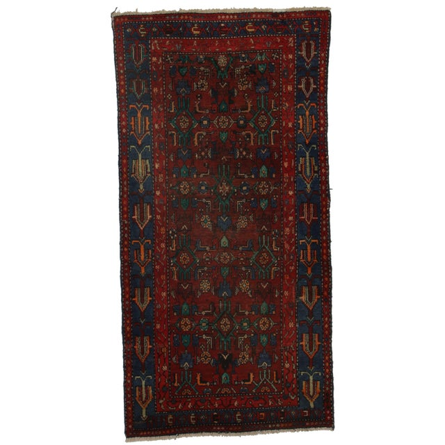 RugsinDallas Hand-Knotted Wool Persian Hamedan - 3′4″ × 6′8″ For Sale