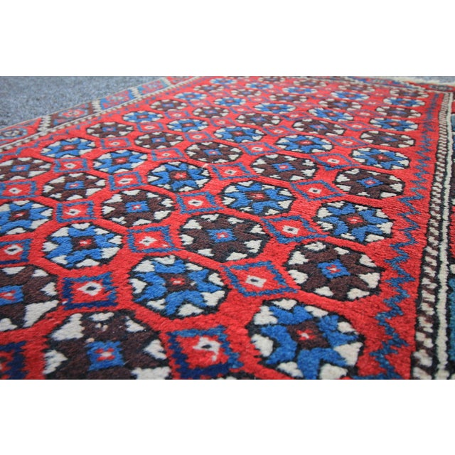 """Antique Tribal Oushak Hand Knotted Turkish Rug - 2'5"""" X 3'8"""" For Sale - Image 4 of 5"""