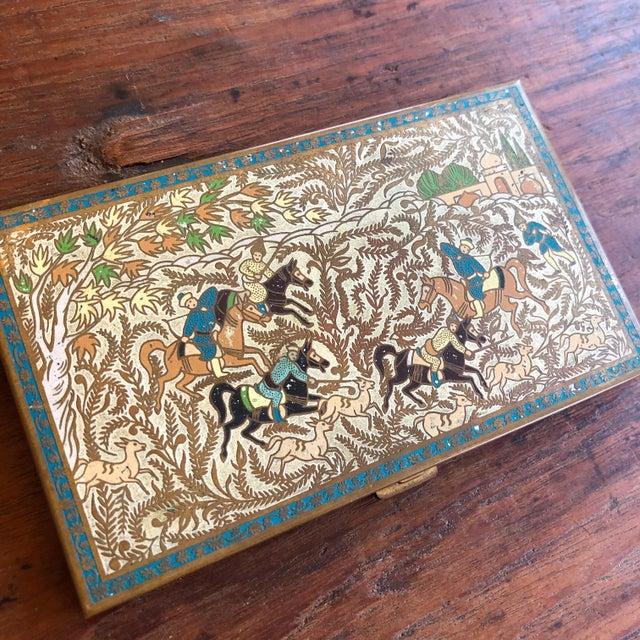Asian Vintage Volupte Brass Cigarette Case For Sale - Image 3 of 5