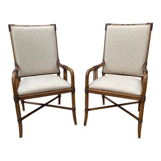 Broyhill Bamboo Arm Chairs - a Pair For Sale