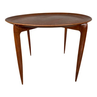 1950s Danish Teak Tray Table by H. Engholm & Svend Åge Willumsen for Fritz Hansen For Sale